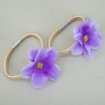 Flower Hair Bobbles Lilac - HFL185