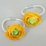 Flower Hair Bobbles Yellow - HFL186
