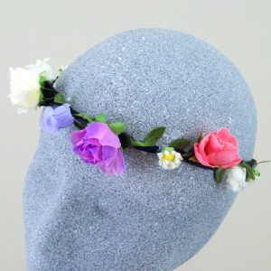 Flower Power Multi Coloured Hair Flower Crown - HFL154