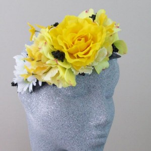 Flower Hair Crown Kerri's Citrus Summer - HFL243