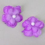 Glitter Flower Hair Clips x 2 Mauve - HFL197
