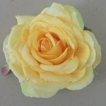 Golden Yellow Rose Hair Clip or Corsage - HRO012