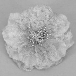 Grey Vintage Lace Flower Hair Clip - HFL006