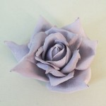 Large Grey Silk Rose Hair Clip or Corsage - HFL104