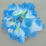 Hawaiian Lei Flower Hair Elastic Scrunchie Blue - HFL149