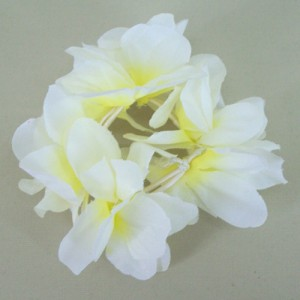 Hawaiian Lei Flower Hair Elastic Scrunchie Lemon - HFL147
