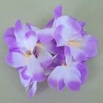 Hawaiian Lei Flower Hair Elastic Scrunchie Mauve - HFL148