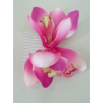 Hot Pink Real Touch Cymbidium Orchid Hairslide - HFL092