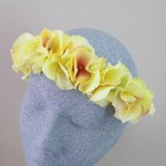 Hydrangea Flower Crown Headband Lemon Sorbet - HFL249