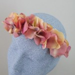 Hydrangea Flower Crown Headband Mango Blush - HFL250
