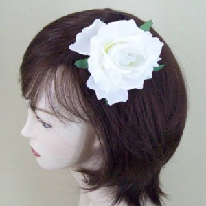 Ivory Rose Hair Clip or Corsage - HRO004