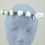 Ivory Rose Flower Hair Crown - HFL098