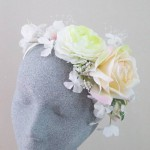 Just Peachy Silk Flower Headband - HFL234