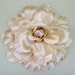 Large Cappuccino Rose Hair Clip - HFL048
