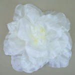 Large Floppy Ivory Rose Hair Clip - HFL047