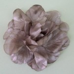 Large Floppy Satin Rose Hair Clip Mocha - HFL215