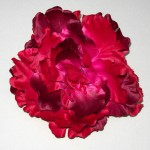 Large Red Satin Peony Clip or Corsage - HFL029
