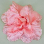 Large Salmon Pink Rose Hair Clip - HFL049