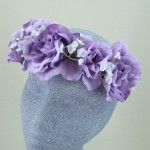 Lavender Rose Hair Flower Crown - HFL175