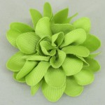 Lime Grosgrain Flower Hair Clip - HFL046