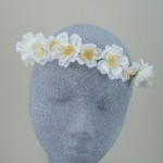Made to Measure Blossom and Diamante Hair Flower Crown - HFL095