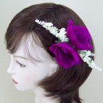 Magenta Anemone and Lavender Hair Clip or Corsage - HFL004
