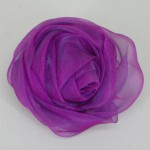 Magenta Chiffon Rose Hair Clip or Brooch - HFL056