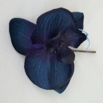 Midnight Blue Orchid Hair Grip - OHF004
