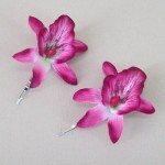 Orchid Flower Hair Accessories Hot Pink 2 Pack OHF017