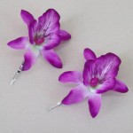 Orchid Flower Hair Accessories Magenta 2 Pack OHF021