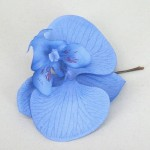 Orchid Flower Hair Accessories Pale Blue Grip OHF014