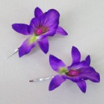 Orchid Flower Hair Accessories Purple 2 Pack OHF020
