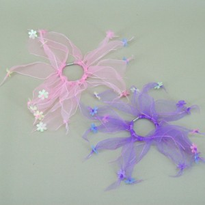 Windmill Scrunchies Ponytail Holders Pink and Lilac (2 pack) - HFL162