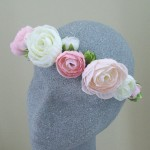 Pink Ranunculus Hair Flower Crown - HFL118