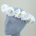 Bridal Hair Crown Purity White Rose and Hydrangea - HFL126