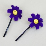 Purple Daisy Hair Grips - HFL021