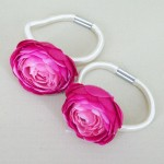 Flower Hair Bobbles Cerise Pink - HFL184