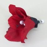 Red Hibiscus Hair Clip - HFL077