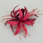 Red Nerine Orchid Hair Clip - HFL120
