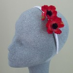 Red Poppy Headband - HFL112