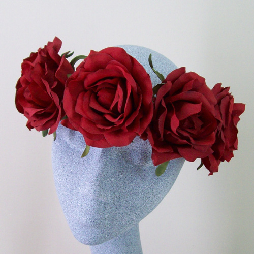 Supersized Red Rose Flower Crown