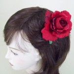 Red Rose Hair Clip or Corsage - HRO001