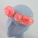 Ring o' Roses Hair Garland Coral - HFL219