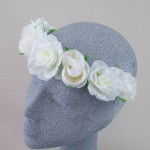 Ring o' Roses Hair Garland Cream - HFL221