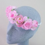 Ring o' Roses Hair Garland Pink - HFL222