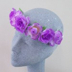 Ring o' Roses Hair Garland Purple - HFL220