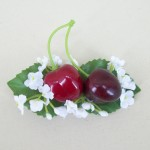 Rockabilly Cherry and Flower Hair Clip - HFL123