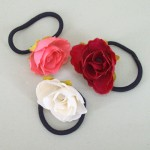 Rose Bud Hair Elastics (3 pack) - HFL130