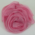 Rose Pink Chiffon Triple Rose Hair Clip or Brooch - HFL060