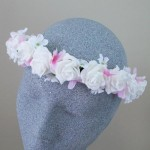 Roses and Pink Blossom Hair Flower Crown - HFL272